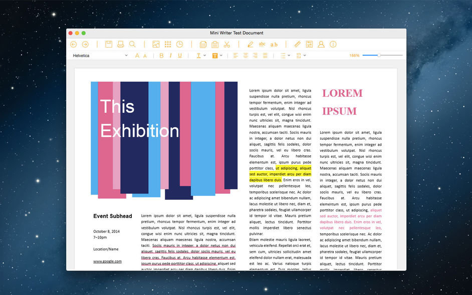 Word Writer - a simple word processor for mac