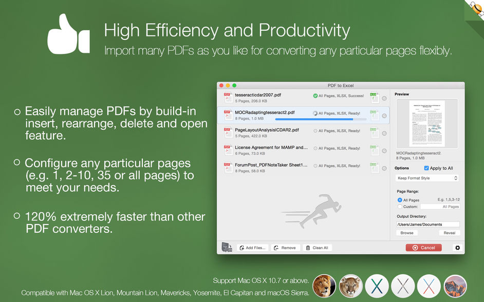 PDF to Excel by Flyingbee for mac 软件截图3