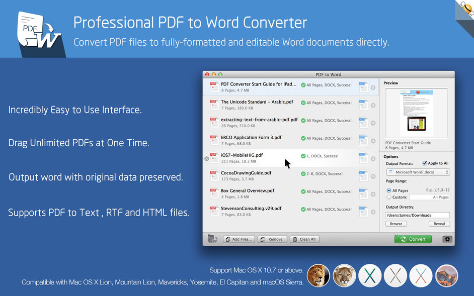 PDF to Word by Flyingbee for mac