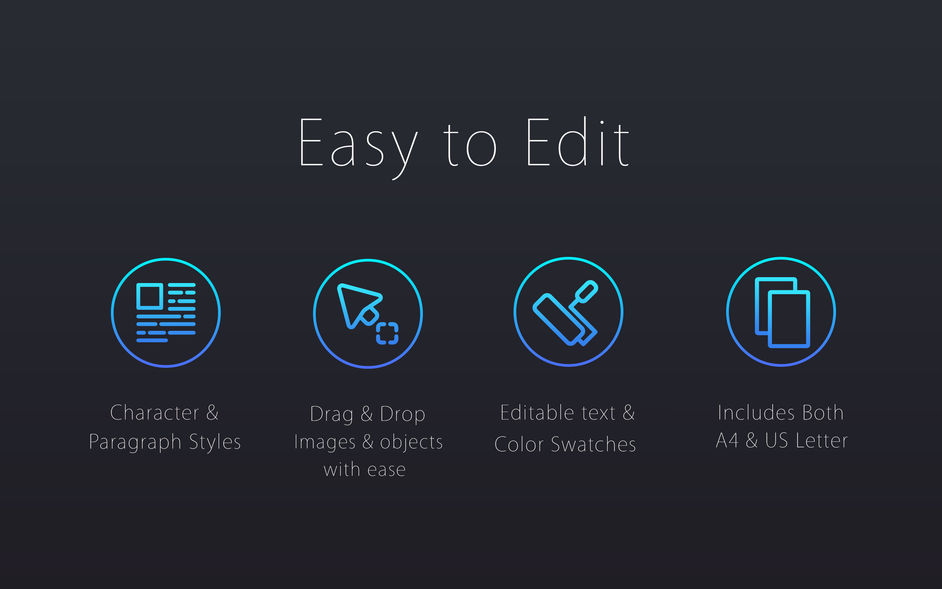 Black Templates for Pages Lite for mac